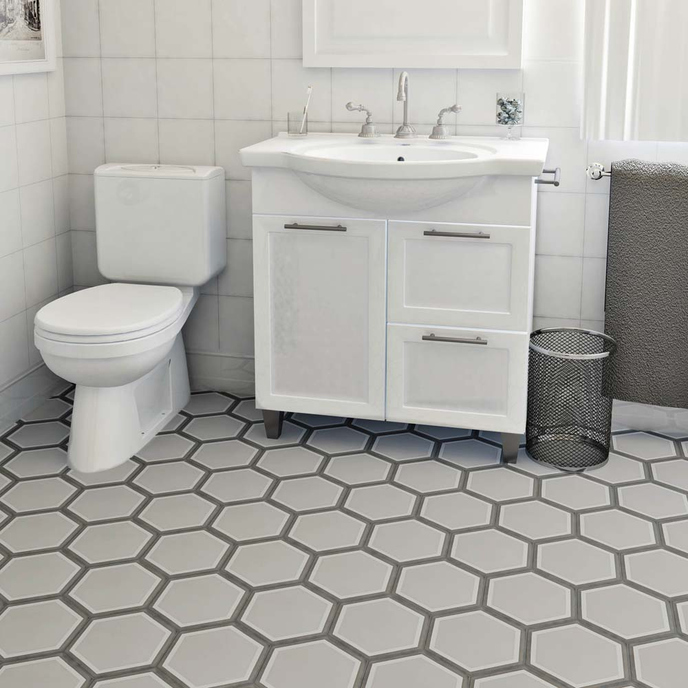 Merola tile cemento hex holland channel 7 78 in x 9 in cement handmade floor and wall tile dailygadgetfo Images
